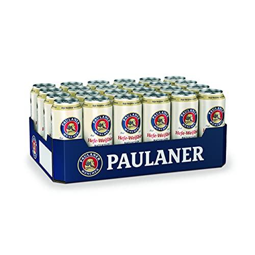 Paulaner Hefe-Weißbier Naturtrüb, 24er Dosentray, EINWEG (24 x 0,5l)