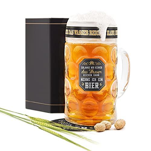 Special Edition - 1 Liter Bierglas Geschenk für Männer. Coole Sachen die Bier-Geschenk-Idee zum...