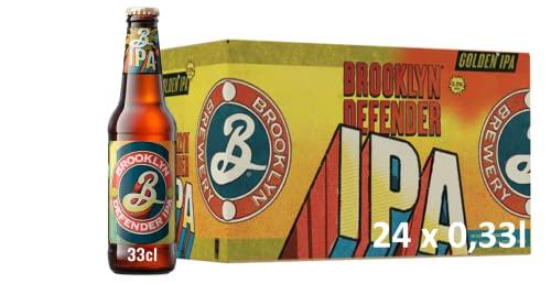 Brooklyn Defender India Pale Ale Craft Beer (24 x 0,33 l) Flaschenbier