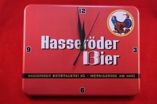 Hasseröder Bier Wanduhr 20x25 cm Wernigerode Auerhahn Uhr Clock