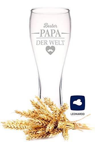 Leonardo Weizenglas mit Gravur - Bester Papa der Welt - Geschenk für Papa ideal als...