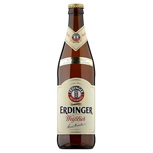Erdinger Weißbräu mit feiner Hefe Weizenbier 50cl (Packung mit 12 x 500 ml)