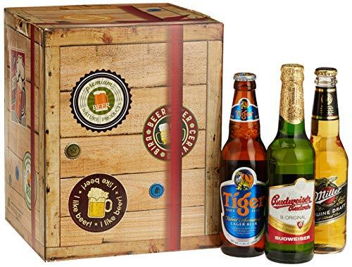Monatsgeschenke 'Beste Biere Der Welt' Entdecken Plus Gratis Geschenkkarton und -Karten Bierpaket,...