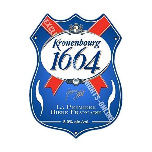 Kronenbourg 1664 Lager Bier Werbung bar Pub Getränk Pumpe Abzeichen Brewery Cask Keg Draught Real...
