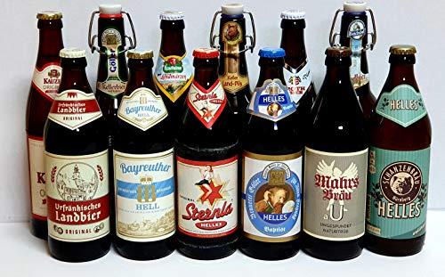 Bier Box Fränkische Bierspezialitäten 12 Fl. je 0,5 Ltr. Bier aus Franken gemischt mit 12...