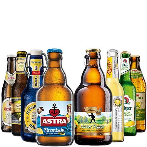 Radler Geschenkpaket von BierSelect - 8 Flaschen Radler und Alster in einem Paket - Geschenkidee zum...
