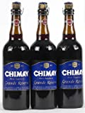 Original Belgisches Bier - CHIMAY Grande Réserve obergäriges braunes Klosterbier 9% vol. 3 x 75...
