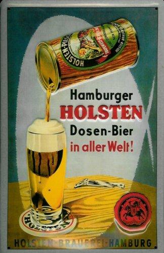Blechschild Nostalgieschild Holsten Dosen Bier Hamburg Brauerei Schild Dosenbier