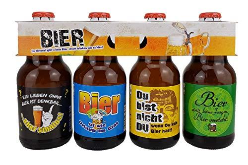 Männer Snack 4er Bier im Bierschaum Träger