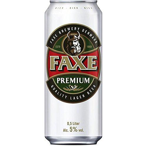 Faxe Danish Premium Lager Bier, 24er Pack, (24 x 500ml)