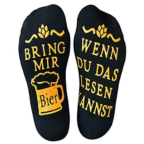 Litthing Bier Socken Lustige Socken aus Baumwolle, Wenn Du Das Lesen Kannst Bring Mir Bier, Geeignet...