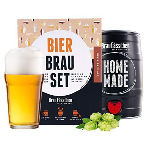 braufaesschen | Geschenk für Männer | Bierbrauset zum selber Brauen | IPA im 5L Fass | In 1 Woche...
