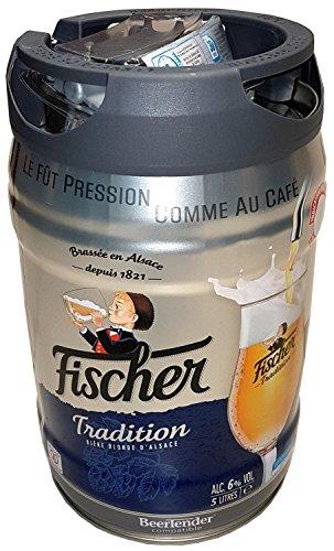 Fischer bier blonde 5 Liter 6,0% vol. Partyfass mit Zapfhahn
