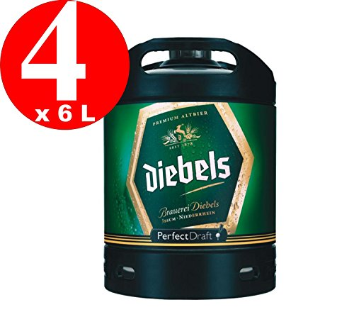 4 x Diebels Alt Perfect Draft Altbier Fass 6 Liter 4,9 % vol. inc. 20.00€ MEHRWEG Pfand