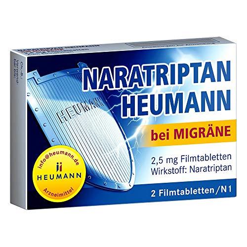 Naratriptan Heumann bei Migräne Filmtabletten, 2 St. Tabletten
