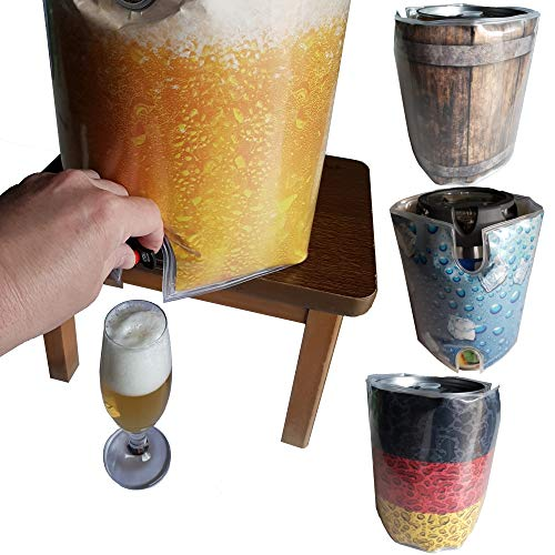 BierEx Fasskühler 5 Liter Kühlmanschette 5 Liter fass Fässer Bierfasskühler Partyfass Kühler...