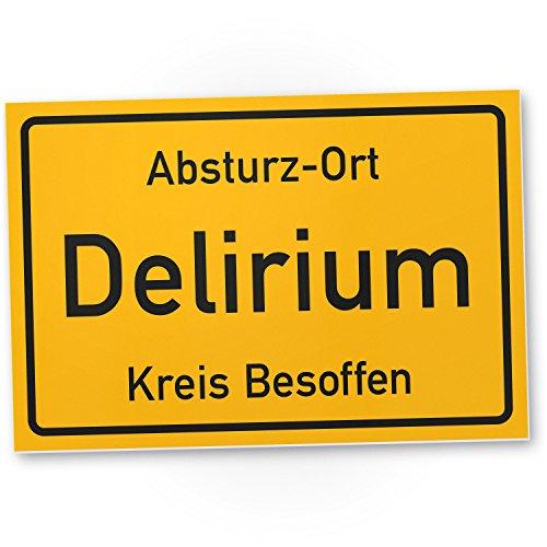 DankeDir! Delirium Kreis Besoffen, Kunststoff Schild mit Spruch - lustiges Geschenk für ihn,...