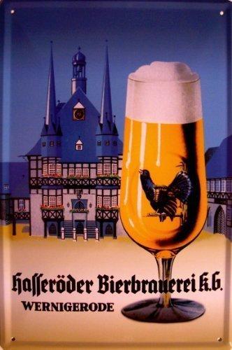 Hasseröder Bier Rathaus Wernigerode Blechschild Schild Blech Metall Metal Tin Sign 20 x 30 cm