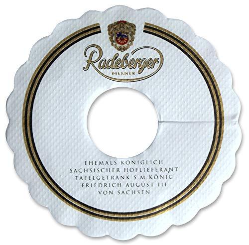 Radeberger Pilsner Tropfendeckchen Bier Glas Pilsdeckchen Kragen Schaum Fänger Papier Lätzchen...
