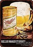 qidushop 1971 Miller Bier Vintage Reproduktion Dekorative Metallschilder für Frauen Wandposten,...