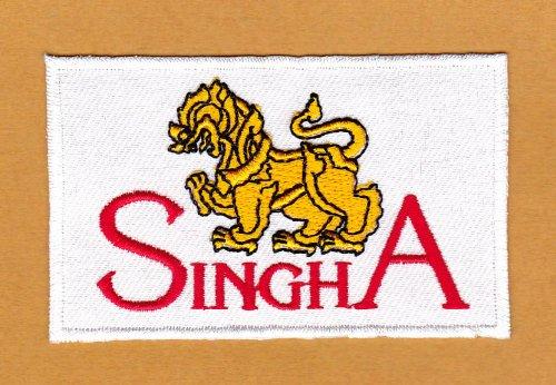 Aufnäher Bügelbild Aufbügler Iron on Patches Applikation Flagge Sponsor Wappen Thailand Singha...
