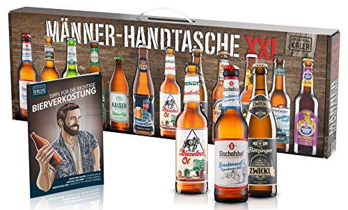KALEA Männerhandtasche XXL, 12 Biere von Privatbrauereien aus Deutschland, Geschenk für Männer...