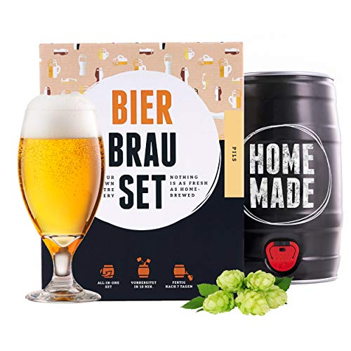 braufaesschen | Bierbrauset zum selber brauen | Pils im 5 Liter Fass | In 7 Tagen fertig Männer,...