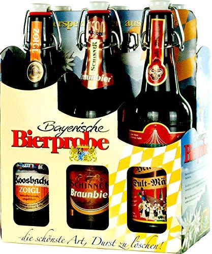 Genussleben Bier Mix 4,6-5,5% vol. 6x 0,5l (Bayrische Bierprobe Bügel 6er), Bierset, Biergeschenk...