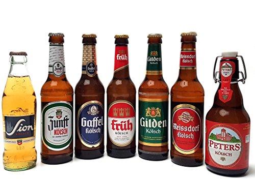 Kölsch 7er Bier Set - Sion 0,25L (4,8% Vol.) + Zunft (4,8% Vol.) + Gaffel (4,8% Vol) + Früh (4,8%...