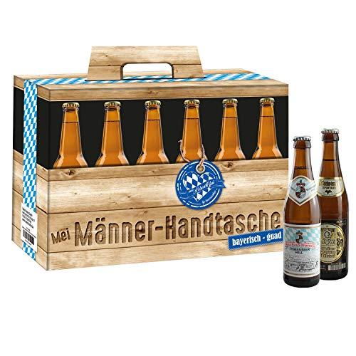 Bavariashop® Bier Männerhandtasche - 12 bayerische Biere in Geschenkbox - Geschenk für Männer