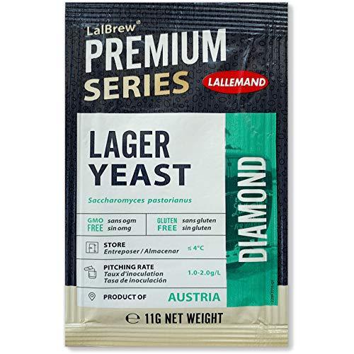 Lallemand Diamond Bierhefe, Brauhefe untergärig, 11g Trockenhefe, für Helles, Lager, Pils, Export....