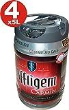 4 x Affligem Cuvée Carmine Partyfass 5 Liter Fass inkl. Zapfhahn 5,2% vol.