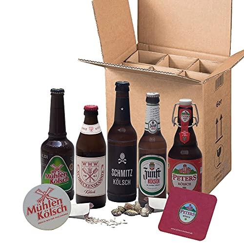 Kölsche Exoten | Bier Tasting Paket | Probierset | Mix-Paket Markenbier | (5 x 0,33l + 2 Bierdeckel...