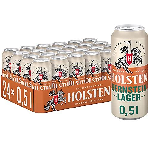 Holsten Bernstein Lager, Bier Dose Einweg (24 x 0.5 l) Dosenbier