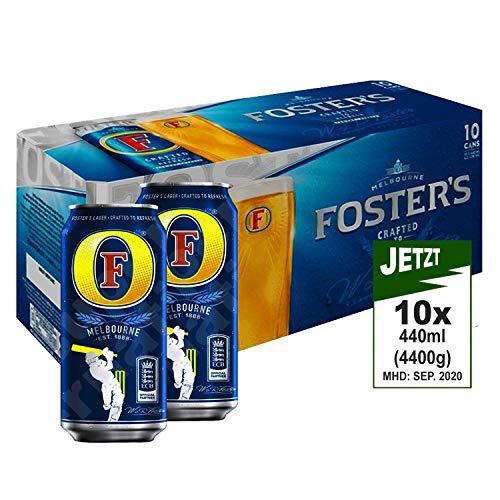 Foster's Lager Beer Alc 4.0% Vol. 10x 440ml (4400ml) - Foster's Australien Famous Bier