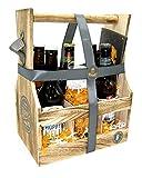 Craft Bier Geschenkkorb im Flaschenträger mit Bier, Bierglas, Bier Menü und Bierdeckel | Bier...