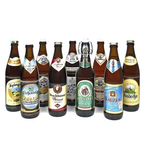 Bierset 'Bayerische Weissbiere' (9 Flaschen à 0,5l / 5,4% vol.)