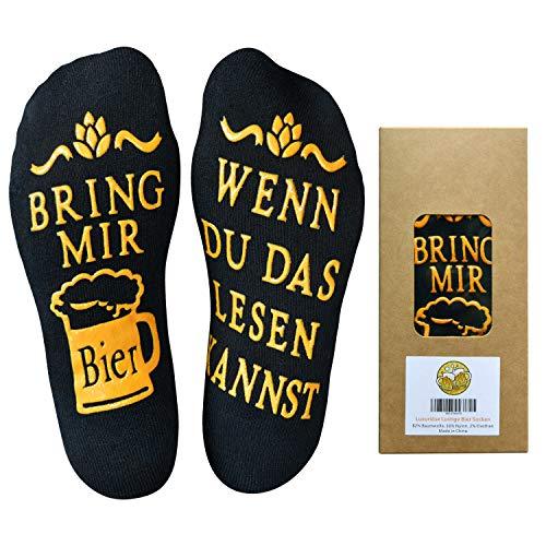 Youcusone Bier Socken, Gekämmter Baumwolle Lustige Socken WENN DU DAS LESEN KANNST BRING MIR...