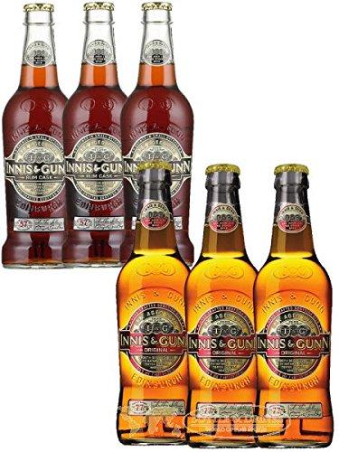 Innis & Gunn Probierset 3 x 0,33 Liter Original Bier und 3 x 0,33 Liter Oak Aged Rum Finish Bier