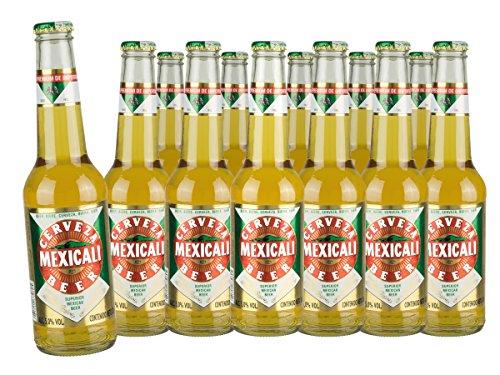 Mexicali Pilsener Bier aus México - 12 er Sparpaket (12 x 330ml)
