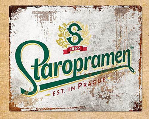 XunYun Staropramen Lager-Bier Metall Werbeschild Bar Pub Männerhöhle Schuppen rustikal Shabby...