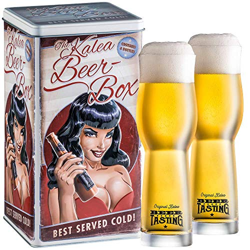 Kalea Beer Box   Metallbox mit 3D-Prägung   4 X 0.33 L Bierspezialitäten   Inkl. 2...
