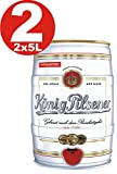2 x König Pilsener 5 Liter Partyfass 4,9% vol