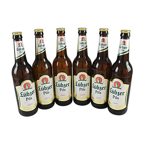 Lübzer Pils (6 Flaschen à 0,5 l / 4,9% vol.)