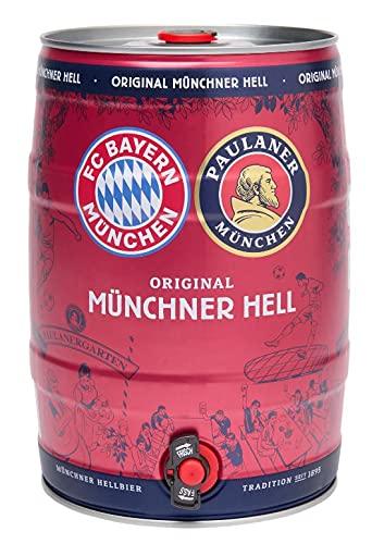 Paulaner Münchener Hell - FC BAYERN MÜNCHEN LIMITED EDITION (1 x 5l) - Zwei Münchner Originale...