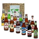 Monsterzeug Bier Weltreise, 12 internationale Biere aus aller Welt, Bierflaschen 12 Länder,...