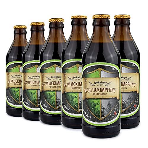 Brauerei Zwönitz Schluckimpfung Starkbier/Bier Geschenk in 6 Flaschen/Strong Beer als...