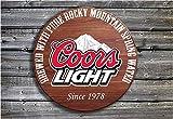 Stan256Nancy Coors Light Barrel Ende Stil Holz Pub Schild Hand Made in Irland Biertrinker Geschenk...