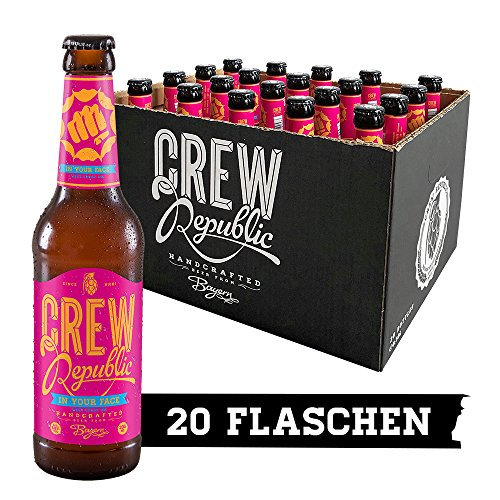 CREW Republic Craft Beer In Your Face, West Coast IPA, India Pale Ale (20 x 0,33 l)