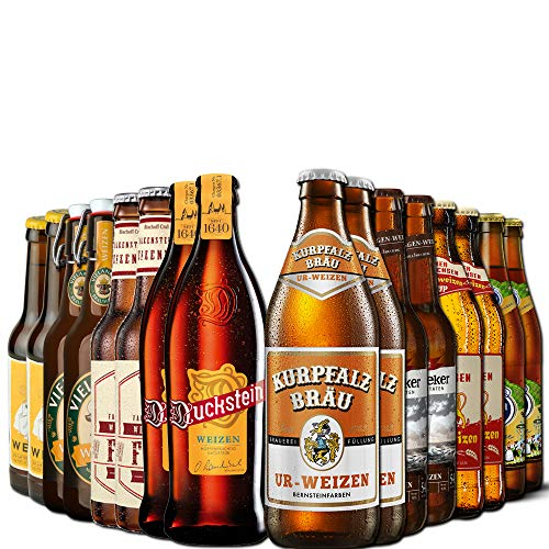 Weizen Bierpaket von Bierselect - 16 beste Flaschen Weißbier in einem Paket - Ideales Geschenk Bier...